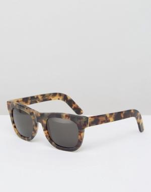 Retrosuperfuture Солнцезащитные очки Ciccio. Цвет: коричневый