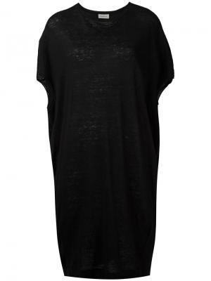 Платье-футболка Sizco By Malene Birger. Цвет: чёрный