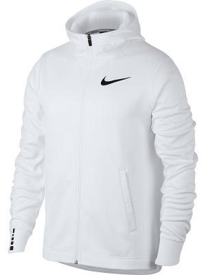 Толстовка M NK THRMA ELITE HOODIE FZ SOL Nike. Цвет: белый