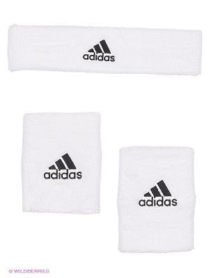 Напульсник NBA WB+HB Adidas. Цвет: белый