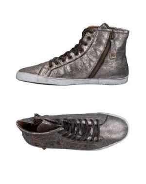 Высокие кеды и кроссовки APEPAZZA. Цвет: серый