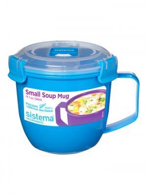 Кружка суповая TO-GO 565мл Sistema. Цвет: синий