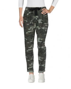 Повседневные брюки ANOTHER LABEL. Цвет: зеленый-милитари