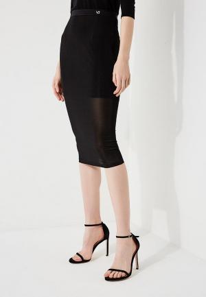 Юбка Versace Jeans. Цвет: черный