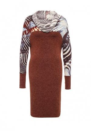 Платье Voielle. Цвет: коричневый