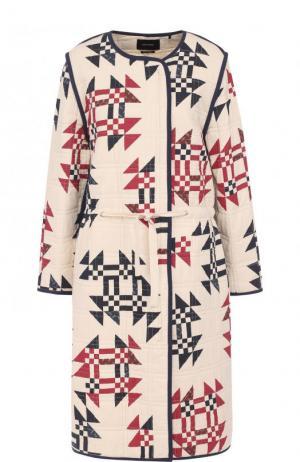 Хлопковое буклированное пальто с круглым вырезом Isabel Marant. Цвет: кремовый