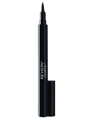 Подводка-фломастер для глаз Colorstay Liquid Eye Pen, Blackest black Revlon. Цвет: черный