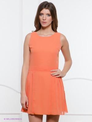 Платье Top Secret. Цвет: светло-оранжевый