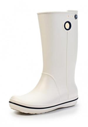 Резиновые сапоги Crocs. Цвет: белый