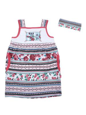 Комплект одежды Апрель. Цвет: белый, голубой, красный