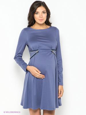 Платье для беременных 40 недель. Цвет: сиреневый