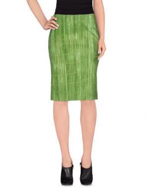 Юбка до колена KILTIE. Цвет: зеленый