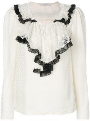 Блузка с кружевным воротником Philosophy Di Lorenzo Serafini. Цвет: телесный