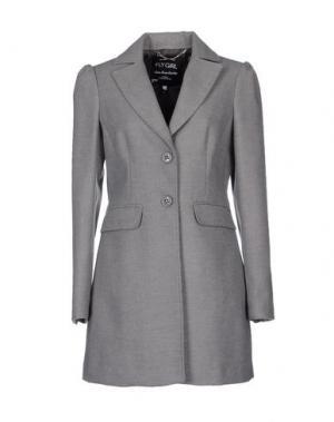 Пальто FLY GIRL. Цвет: серый