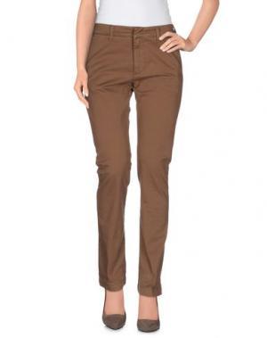 Повседневные брюки HЁLLS BЁLLS. Цвет: коричневый