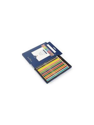 Набор цветных карандашей, утолщенных JUMBO, 12 цветов Bruno Visconti. Цвет: синий