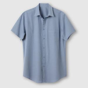 Рубашка с короткими рукавами, рост 3 (свыше 1,87 м) CASTALUNA FOR MEN. Цвет: в полоску бордовый/белый