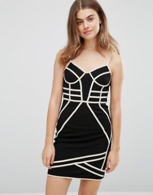 Parisian Облегающее платье с бретельками. Цвет: черный