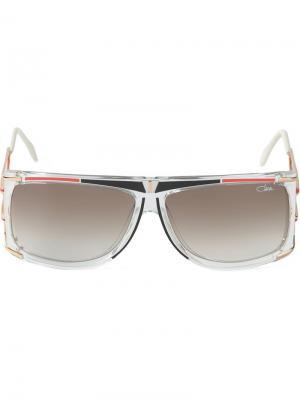 Солнцезащитные очки в квадратной оправе Cazal. Цвет: белый
