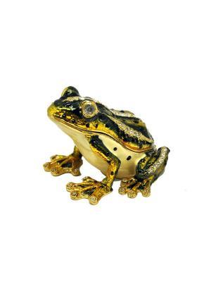 Шкатулка Лягушка Yen Ten. Цвет: зеленый, белый, золотистый