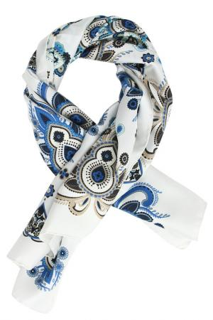 Платок Pollini. Цвет: белый, голубой, бежевый