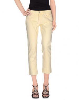 Джинсовые брюки NOTIFY. Цвет: светло-желтый