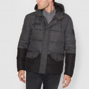 Куртка стёганая двухцветная с капюшоном GUMBALL REDSKINS. Цвет: антрацит