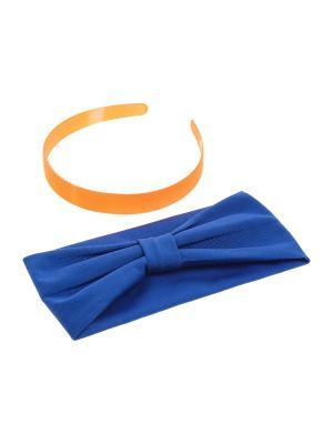 Ободок Olere. Цвет: оранжевый, синий