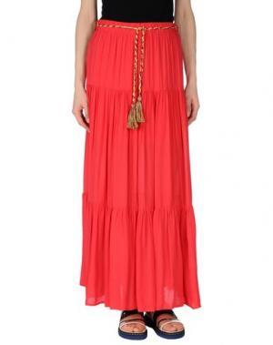 Длинная юбка KARTIKA. Цвет: красный
