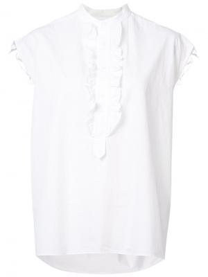 Блузка без рукавов Nili Lotan. Цвет: белый