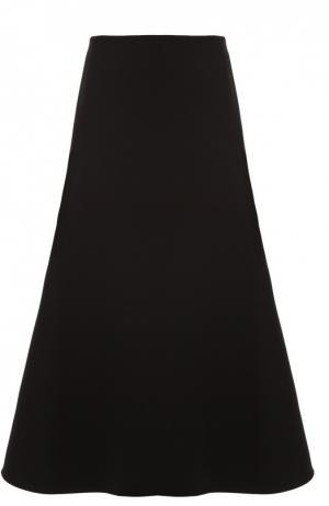 Расклешенная юбка-миди Marni. Цвет: черный