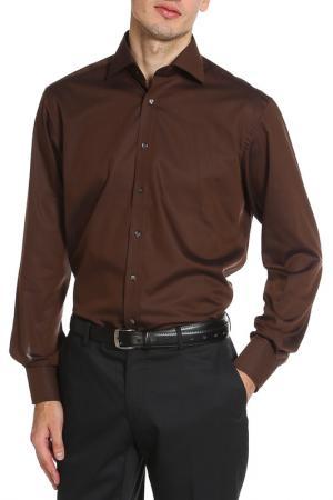 Рубашка ETERNA. Цвет: коричневый