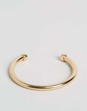Chained & Able Золотистый браслет. Цвет: золотой