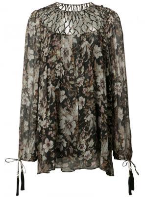 Блузка Gossamer Lattice Zimmermann. Цвет: многоцветный