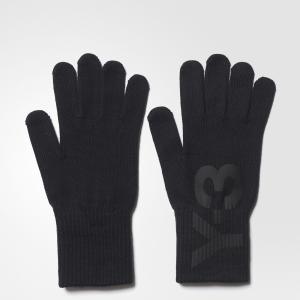 Перчатки Y-3 Logo by adidas. Цвет: черный