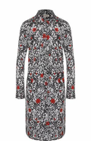 Платье-рубашка прямого кроя с контрастным цветочным принтом Zadig&Voltaire. Цвет: разноцветный