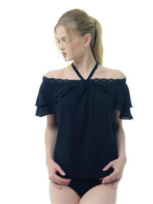 Блузка-боди Arefeva. Цвет: черный