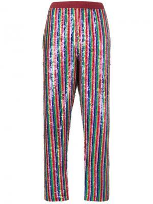 Радужные брюки с блестками Ashish. Цвет: none