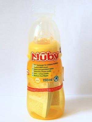 Бутылочка NUBY. Цвет: желтый
