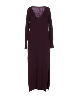 Длинное платье MANILA GRACE. Цвет: баклажанный