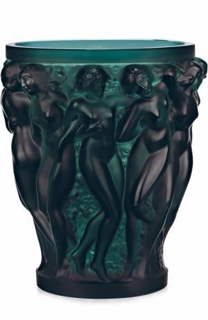 Ваза Bacchantes Lalique. Цвет: темно-зеленый
