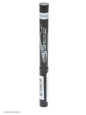 Подводка-фломастер для Век Scandaleyes Thick&thin Eyeliner, №001 Rimmel. Цвет: черный