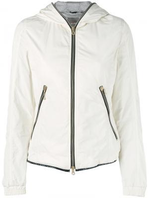 Приталенная легкая куртка Duvetica. Цвет: телесный
