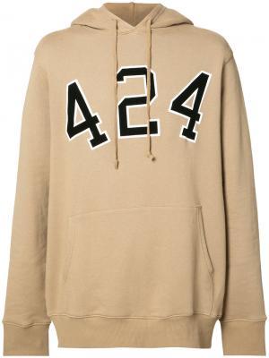 424 University hoodie Fairfax. Цвет: телесный
