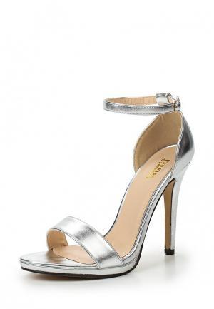 Босоножки Max Shoes. Цвет: серебряный