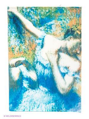 Обложка для паспорта Mitya Veselkov. Цвет: синий