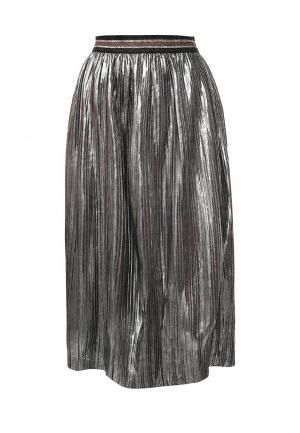 Юбка B.Style. Цвет: серебряный