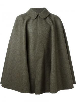 Пальто-кейп Cini. Цвет: зелёный