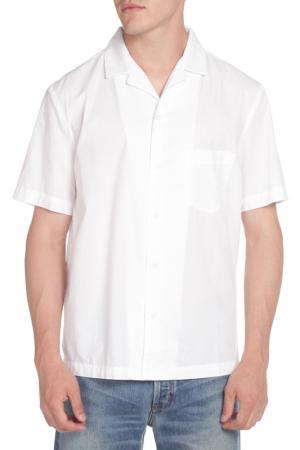 Рубашка American Apparel. Цвет: белый