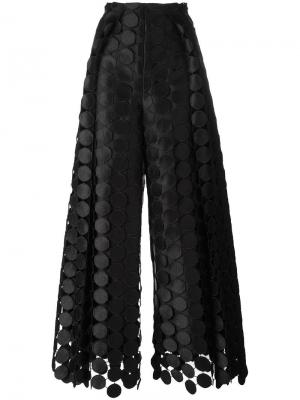 Широкие брюки Hallie Solace. Цвет: чёрный